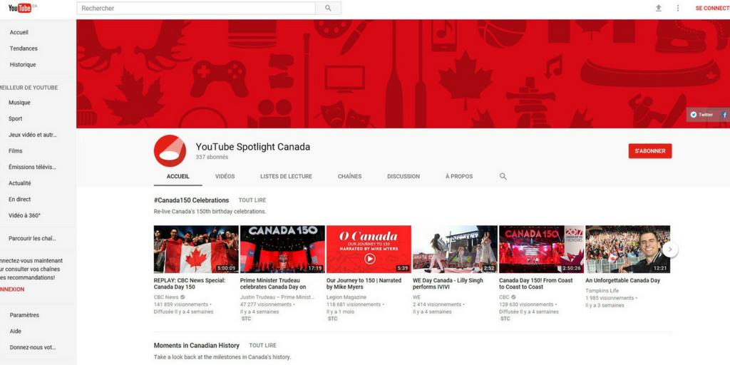 YouTube lance une nouvelle chaîne dédiée aux talents d'ici