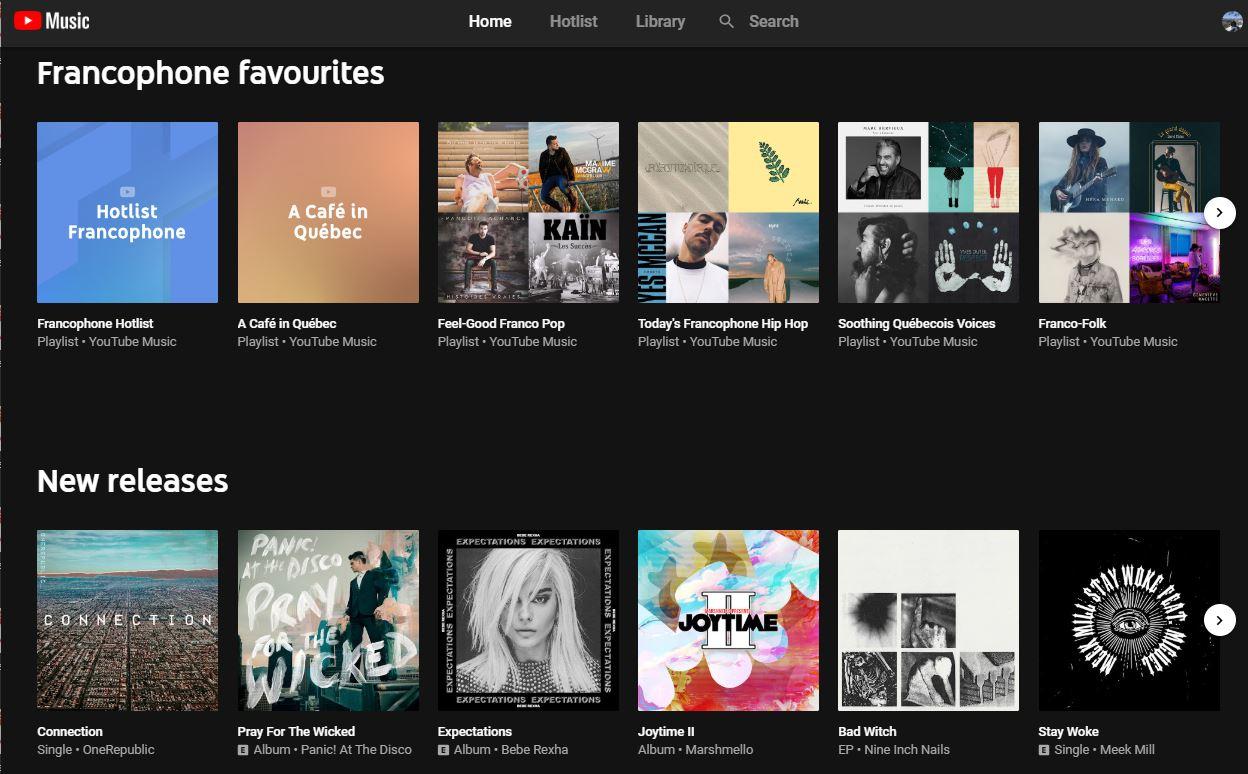 Lancement de YouTube Music et de YouTube Premium au Canada : pour tout trouver