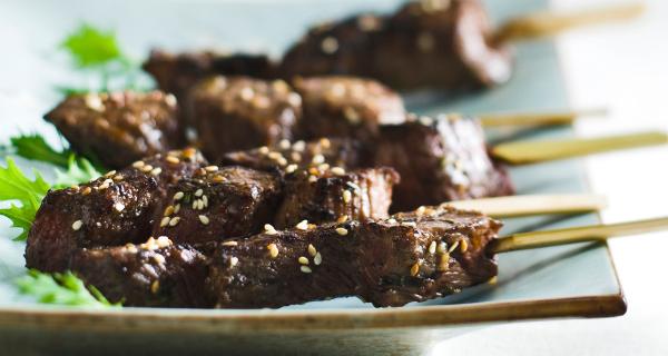 Recette : Brochettes de bœuf à la marocaine