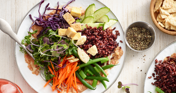 Recette : Salade gado-gado au riz noir